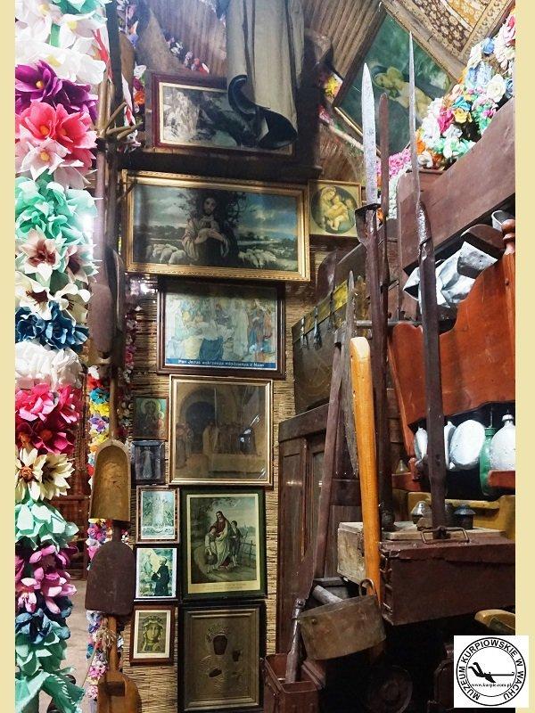 Część ekspozycji w Muzeum Kurpiowskim w Wachu