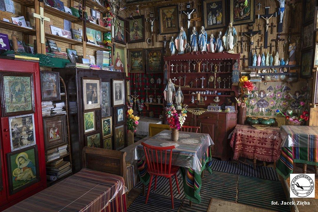Część ekspozycji w Muzeum Kurpiowskim w Wachu. fot. Jacek.Zięba