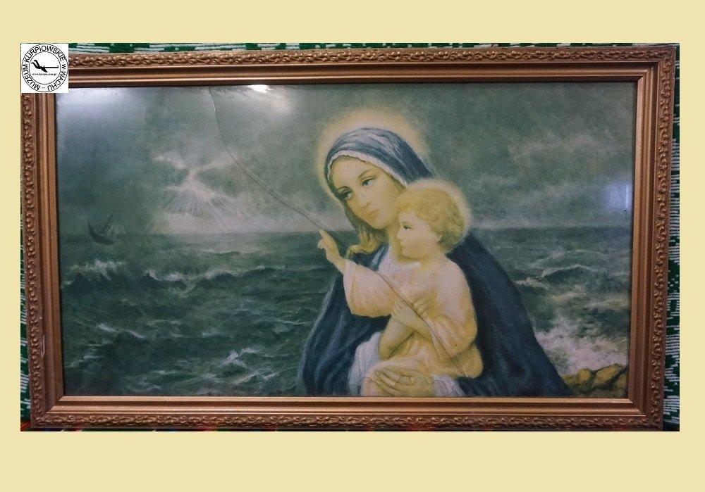 Matka Boża z dzieciątkiem - oleodruk