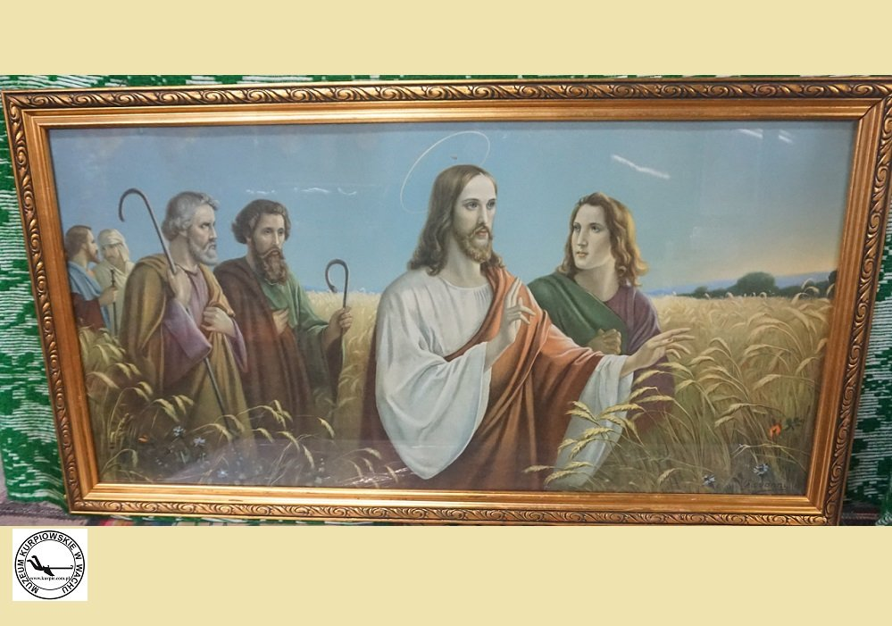 Chrystus z Apostołami wśród zbóż - oleodruk