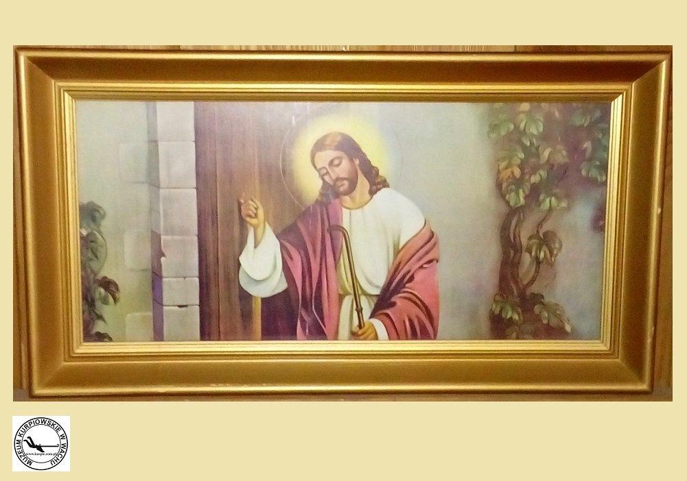 Jezus pukający do drzwi - oleodruk