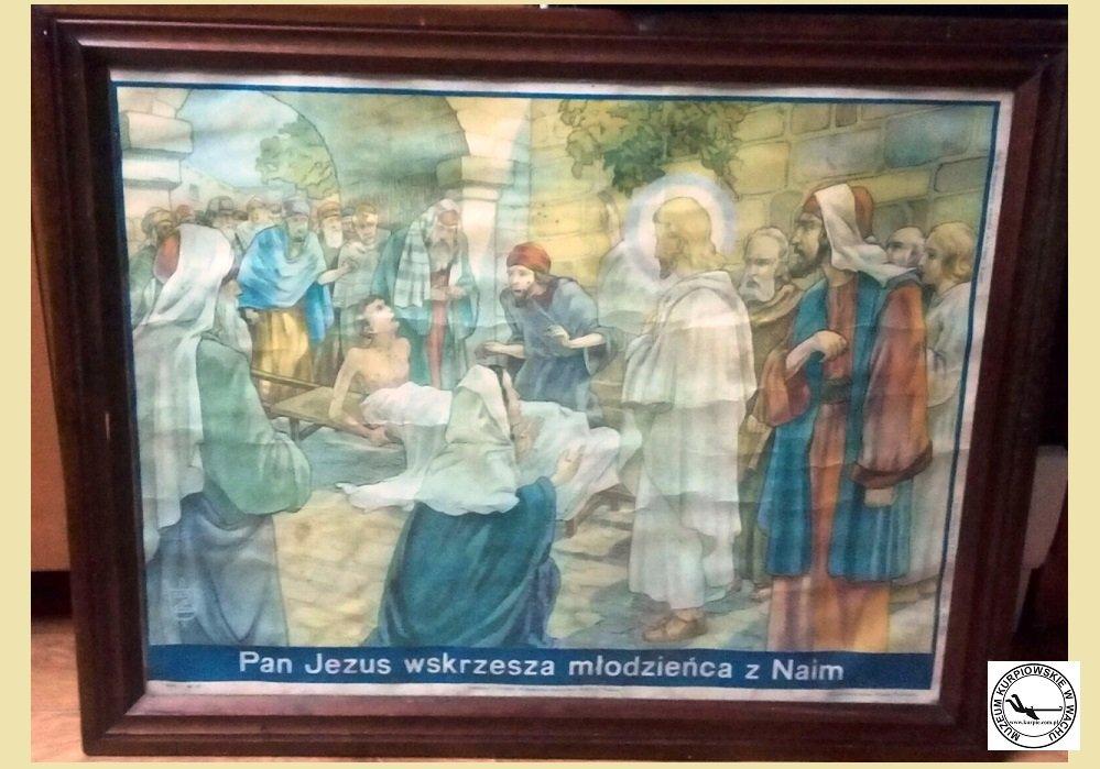 Pan Jezus wskrzesza młodzieńca z Naim - oleodruk