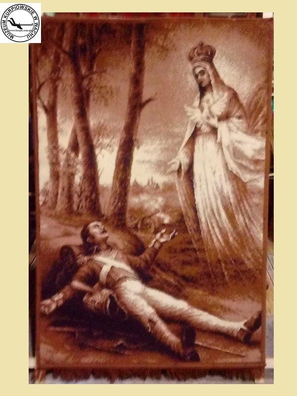 Objawienia Matki Bożej Licheńskiej Tomaszowi Kłossowskiemu pod Lipskiem - gobelin