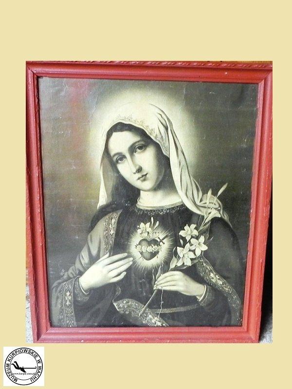 Gorejące (Niepokalane) Serce Maryi - oleodruk