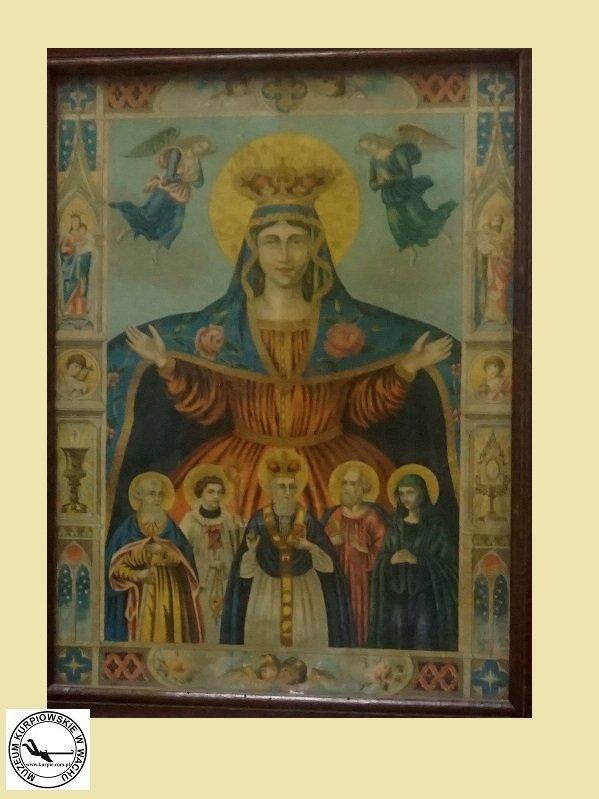 Pokrowa, Matka Boska orędowniczka, pośredniczka i opiekunka ludzkości - oleodruk