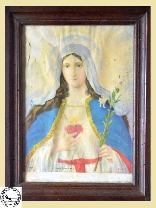 Najświętsze Serce Maryi - oleodruk