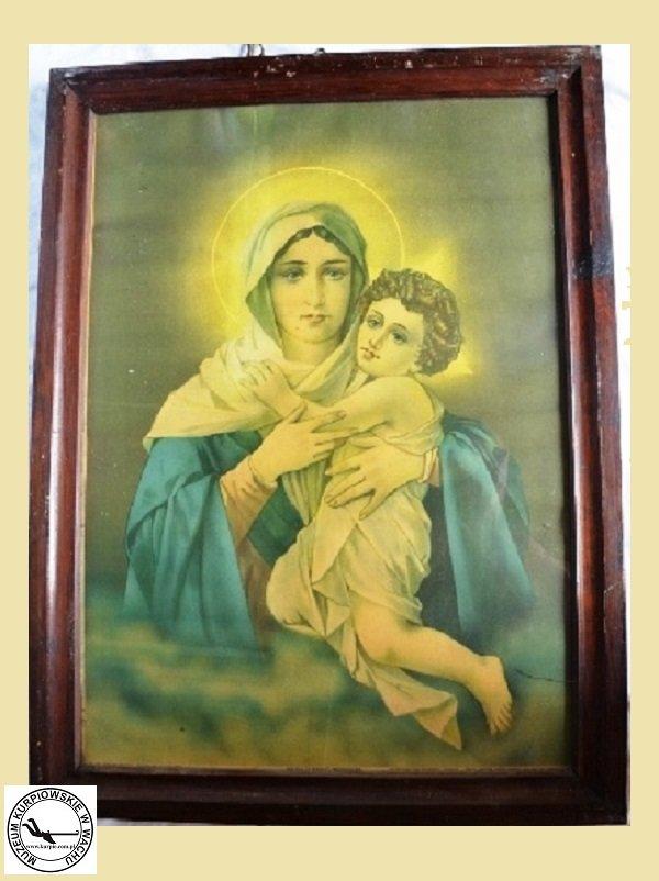Maryja z Jezusem - oleodruk