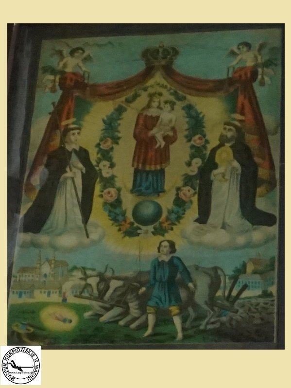 Święty Izydor Oracz - oleodruk