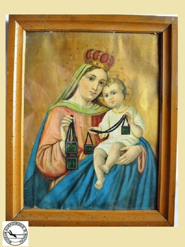 Matka Boża Szkaplerzna - oleodruk