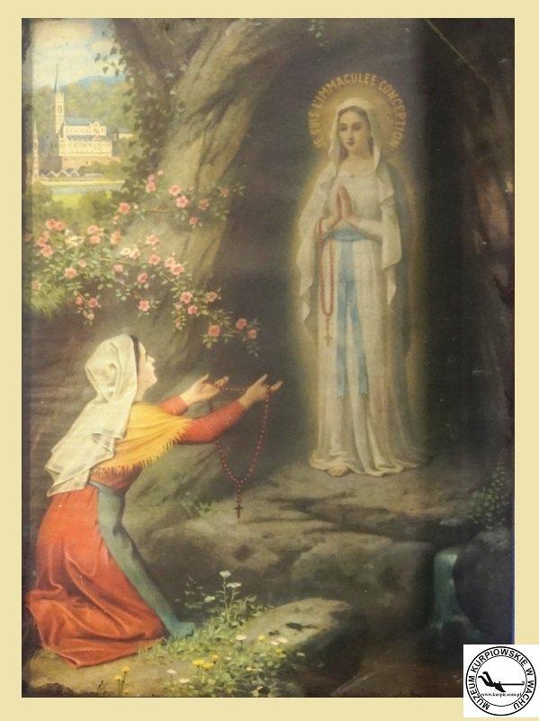 Matka Boża z Lourdes - olejodruk