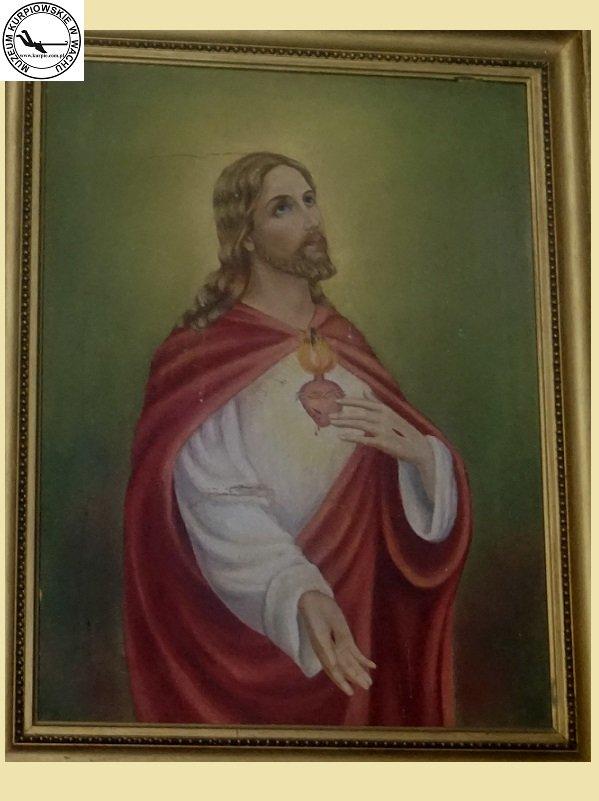 Najświętsze Serce Pana Jezusa - obraz olejny na płótnie. Namalował - Henryk Krauze