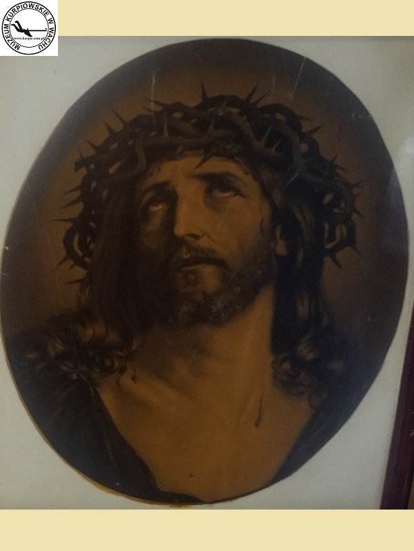 Chrystus Frasobliwy - oleodruk
