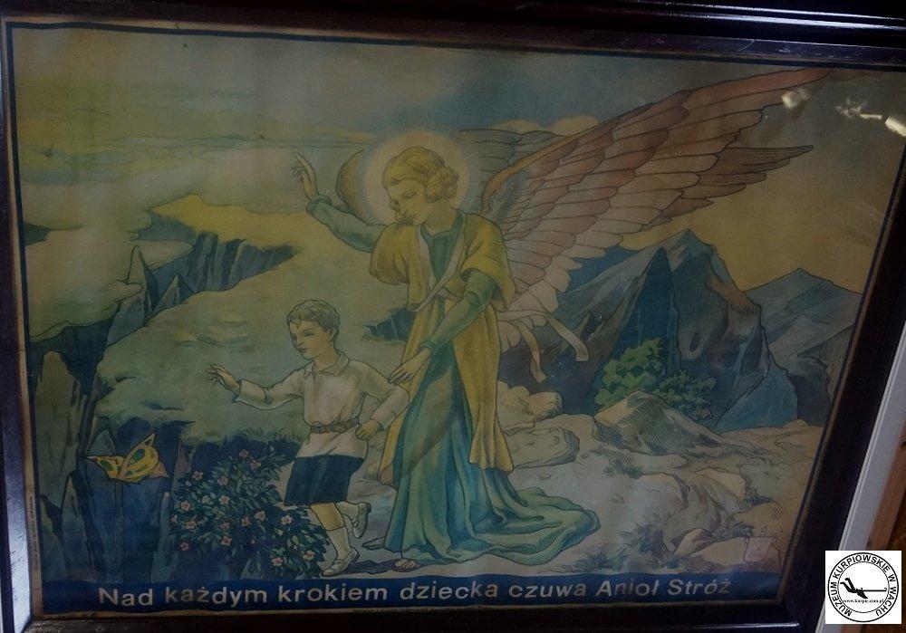 Anioł Stróż - oleodruk