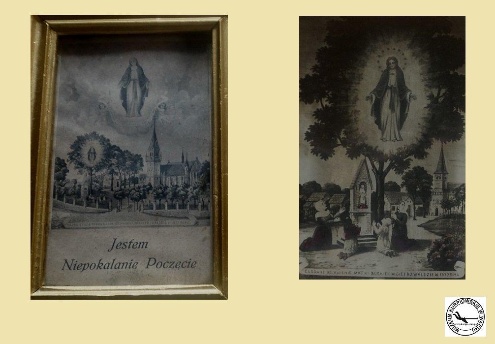 Cudowne objawienie Matki Bożej w Gietrzwałdzie - 2 oleodruki