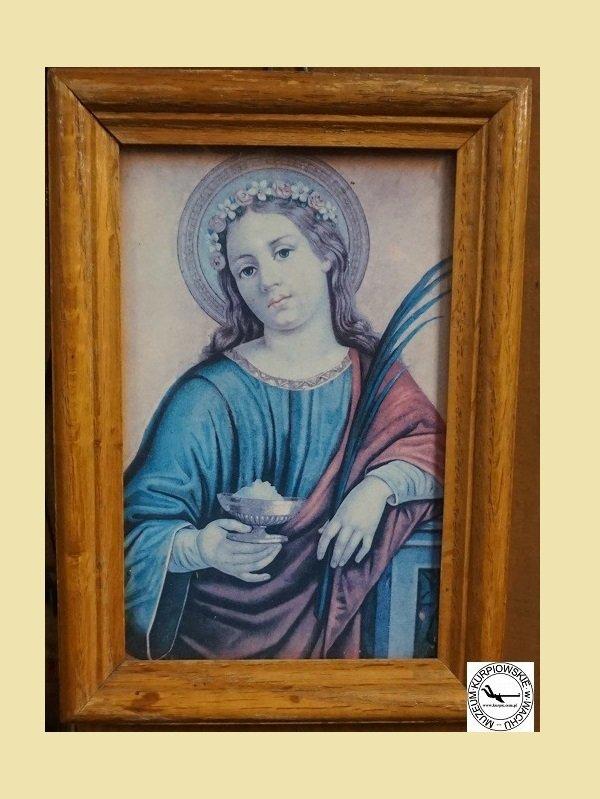 Święta Agata - oleodruk