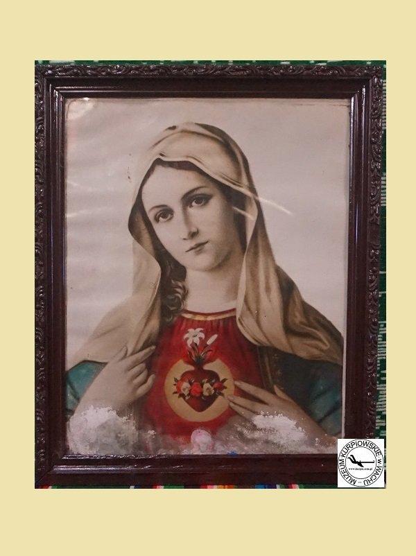 Gorejące (Nipokalane )Serce Maryi - oleodruk