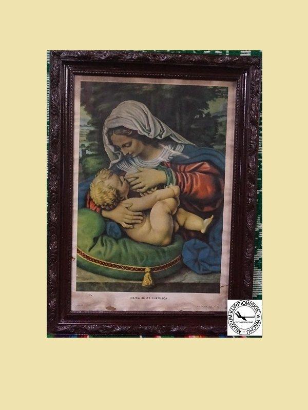 Matka Boska Karmiąca - oleodruk