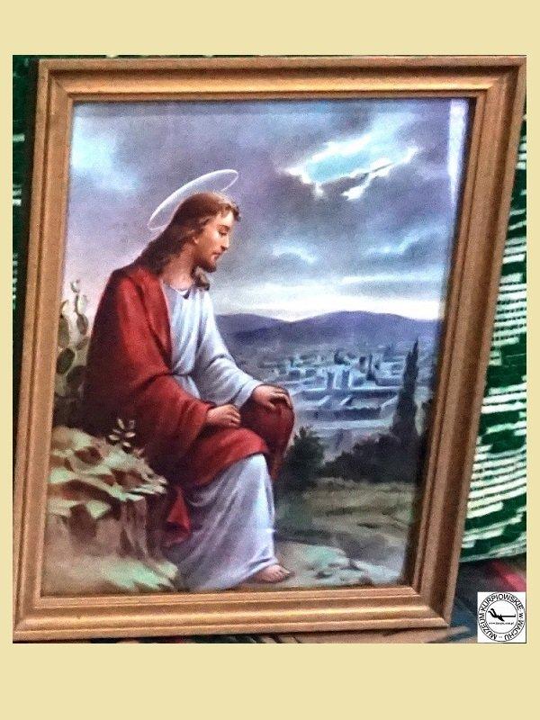 Jezus płaczący nad Jerozolimą - oleodruk