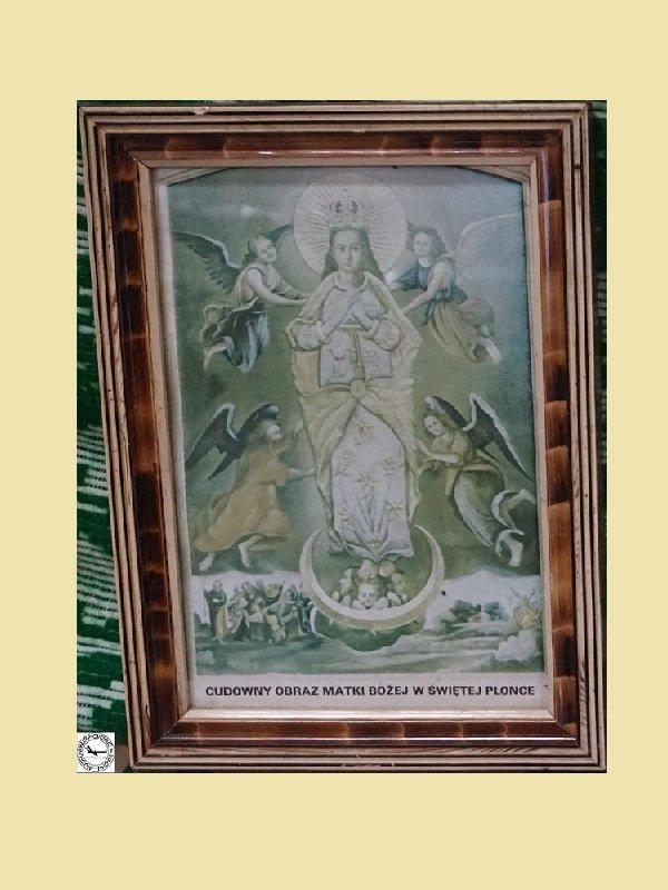 Cudowny obraz Matki Bożej w Świętej Płonce - oleodruk