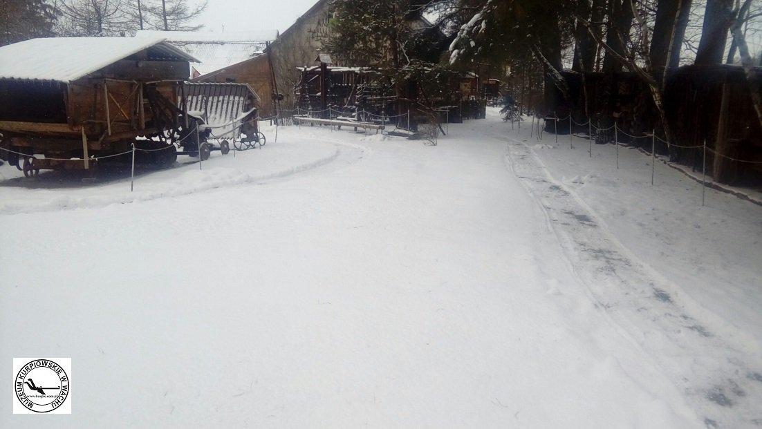 Zima w Muzeum Kurpiowskim w Wachu