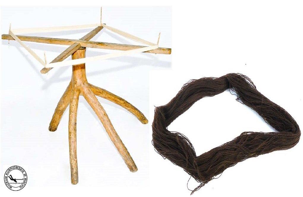 Zzijaki (motowidła) i motek Muzeum Kurpiowskie w Wachu