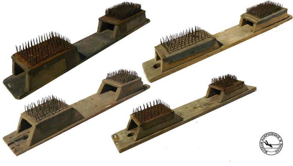 Szczotki do cazgania lnu lub konopi Muzeum Kurpiowskie w Wachu