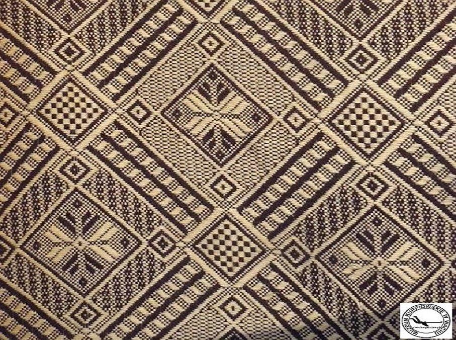 Tkanina dwuosnowowa Muzeum Kurpiowskie w Wachu